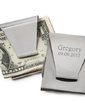 Personalized Classic Pattern Stainless Steel Money Clips (051029002)