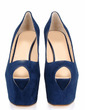 Suede Stiletto Heel Sandals Platform Peep Toe shoes (087026631)