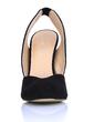Suede Stiletto Heel Pumps Closed Toe Slingbacks shoes (085022591)