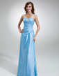A-Line/Princess Sweetheart Floor-Length Taffeta Bridesmaid Dress With Ruffle Beading (007001064)