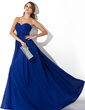 Empire Sweetheart Sweep Train Chiffon Evening Dress With Ruffle (017021098)