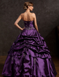Ball-Gown Sweetheart Floor-Length Taffeta Quinceanera Dress With Embroidered Ruffle Beading (021015146)