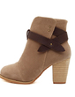 Süet Kalın Topuk Ayak bileği Boots Ile Toka ayakkabı (088056673)