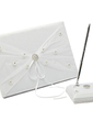 Chic Ribbons/Rhinestones/Bow/Flower Guestbook & Pen Set (101018158)