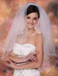 Two-tier Elbow Bridal Veils With Scalloped Edge (006003750)