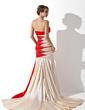 Çan/Prenses Askısız Kısa Kuyruk Charmeuse Mezuniyet Elbisesi Ile Büzgü Boncuklama Pullarda (018005066)