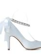 Kadın Satin İnce Topuk Kapalı Toe Pompalar Ile Ilmek İmitasyon İnci (047057096)