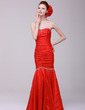 Trumpet/Mermaid Sweetheart Floor-Length Taffeta Evening Dress With Ruffle Beading (017016152)
