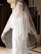 One-tier Waltz Bridal Veils With Pencil Edge (006036663)