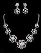 Flower Shaped Alloy/Rhinestones Women's Jewelry Sets (011019290)