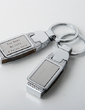 Personalized Simple Zinc Alloy Keychains (Set of 4) (051028915)