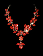 Leaves Shaped Alloy/Rhinestones Women's Jewelry Sets (011028407)