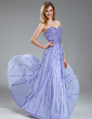 A-Line/Princess Sweetheart Floor-Length Chiffon Prom Dress With Sequins (018018995)