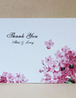 Personalized Flower Design Hard Card Paper Thank You Cards (Set of 50) (118029380)
