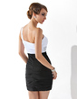 Sheath/Column One-Shoulder Short/Mini Chiffon Homecoming Dress With Ruffle Beading (022010530)