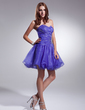 A-Line/Princess Sweetheart Short/Mini Organza Homecoming Dress With Ruffle Beading Sequins (022020925)
