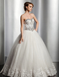 Ball-Gown Sweetheart Floor-Length Tulle Wedding Dress With Lace Beading Sequins (002014818)