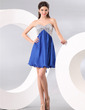 Empire Sweetheart Short/Mini Chiffon Sequined Homecoming Dress With Beading (022014088)