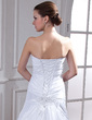 Trumpet/Mermaid Sweetheart Watteau Train Taffeta Wedding Dress With Ruffle Beading Appliques Lace Sequins (002012809)