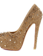 Patent Leather Stiletto Heel Pumps Platform Closed Toe With Rhinestone shoes (085026504)