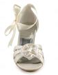 Satin Plastic Stiletto Heel Sandały Buty ślubne Z Flower Satin (047005444)