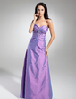 A-Line/Princess Sweetheart Floor-Length Taffeta Evening Dress With Ruffle Beading (017014874)