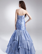 Trumpet/Mermaid Sweetheart Floor-Length Taffeta Prom Dress With Ruffle Beading (018015908)