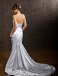 Trumpet/Mermaid Sweetheart Chapel Train Charmeuse Wedding Dress With Ruffle Lace Beading Sequins (002011529)