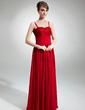 Çan/Prenses Kalp Kesimli Uzun Etekli Chiffon Lace Gelin Annesi Elbisesi Ile Büzgü (008006491)