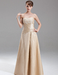 A-Line/Princess Sweetheart Floor-Length Taffeta Bridesmaid Dress With Ruffle Beading Appliques Lace (007002095)