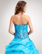 Ball-Gown Sweetheart Floor-Length Organza Quinceanera Dress With Embroidered Beading Sequins Cascading Ruffles (021016391)
