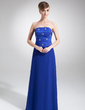 A-Line/Princess Strapless Floor-Length Chiffon Charmeuse Bridesmaid Dress With Beading Sequins (007002108)