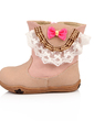 Leatherette Flat Heel Ankle Boots With Bowknot shoes (086039155)