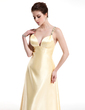 A-Line/Princess V-neck Floor-Length Charmeuse Prom Dress With Ruffle Beading (018004804)