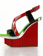 Patent Leather Wedge Heel Sandals Platform Wedges Slingbacks With Split Joint shoes (087026665)