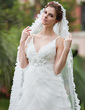 One-tier Scalloped Edge Cathedral Bridal Veils (006026311)