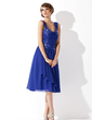 A-Line/Princess Sweetheart Knee-Length Chiffon Homecoming Dress With Ruffle Beading Appliques Lace (022010130)