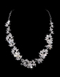 Flower Shaped Alloy/Rhinestones Ladies' Jewelry Sets (011028352)