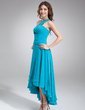 A-Line/Princess One-Shoulder Asymmetrical Chiffon Homecoming Dress With Ruffle (022010331)