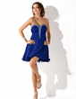 Empire Sweetheart Short/Mini Chiffon Homecoming Dress With Ruffle Beading (022009618)