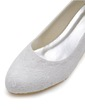 Women's Lace Cone Heel Closed Toe Pumps With Satin Flower (047039731)