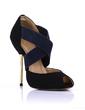 Suede Stiletto Heel Sandals Peep Toe shoes (085022622)