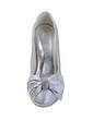 Women's Satin Kitten Heel Closed Toe Platform With Rhinestone Lace-up (047033120)