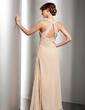 Empire Scoop Neck Floor-Length Chiffon Mother of the Bride Dress With Ruffle Beading (008014534)