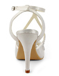 Women's Satin Stiletto Heel Sandals With Imitation Pearl (047020190)