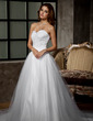 Ball-Gown Sweetheart Chapel Train Tulle Wedding Dress With Ruffle Lace Beading (002011676)