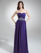 A-Line/Princess Sweetheart Floor-Length Chiffon Evening Dress With Ruffle Beading Sequins (017016243)