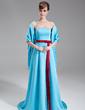 Çan/Prenses Kalp Kesimli Kuyruklu Satin Nedime Elbisesi (007000965)