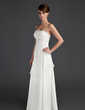 A-Line/Princess Strapless Floor-Length Chiffon Mother of the Bride Dress With Beading (008015649)