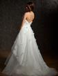 Balo Elbisesi Kalp Kesimli Kısa Kuyruk Tulle Gelinlik Ile Büzgü Çiçek(ler) (002011727)